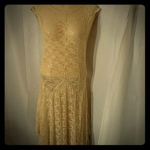 FREE PEOPLE. Lacy sheer Maxi dress